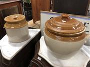 Sale 8822 - Lot 1695 - Set of Three Ceramic Fowler, Crock Pots