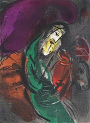 Sale 9009A - Lot 5015 - Marc Chagall (1887 - 1985) - Jeremiah 1956 37.5 x 26.5 cm (frame: 67 x 57 x 3 cm)