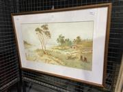 Sale 9050 - Lot 2018 - Jan De Leener, Country Scene, watercolour, frame: 45 x 66 cm, signed lower right