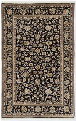 Sale 9123J - Lot 75B - An all-over Navy tones fine Kashan Persian rug 210 x 135cm