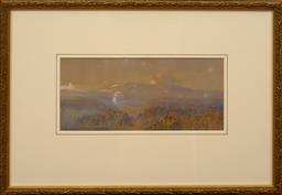 Sale 9150J - Lot 68 - HANS HEYSEN (1877 - 1968) Landscape Vista watercolour 17 x 29 cm signed lower left