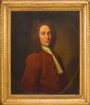 Sale 8382 - Lot 569 - René Auguste Constantyn (active 1712 - 1726) - Phillipe Clerembault 74 x 61.5cm