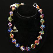 Sale 8402D - Lot 36 - Murano Glass Millefiori Necklace (Length - 43cm)