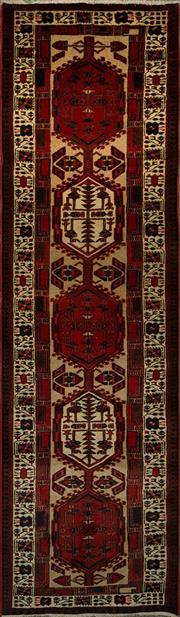 Sale 8424C - Lot 77 - Persian Shiraz Runner 316cm x 93cm