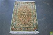 Sale 8428 - Lot 1058 - Kashmiri Silk Rug (130 x 80cm)
