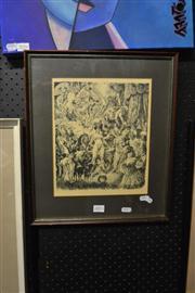 Sale 8441T - Lot 2055 - Norman Lindsay - Framed Decorative Print