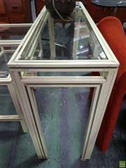 Sale 8566 - Lot 1013 - Pierre Vandel Consol Table (74 x 35.5 x 125.5)