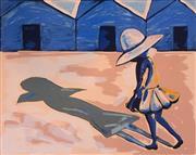 Sale 8756A - Lot 5006 - Charles Blackman (1928 - 2018) - The Shadow (Blackman Schoolgirls Series) 75 x 106cm