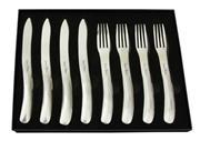 Sale 9080K - Lot 97 - Laguiole by Louis Thiers Organique 8-Piece Steak Knife Set - polished finish