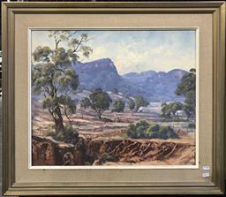 Sale 9106 - Lot 2005 - Ian Webb Glen Alice oil on canvas board, 70 x 80cm, signed lower left -