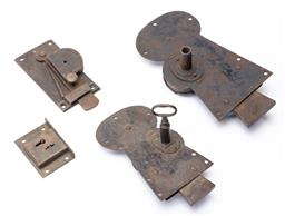 Sale 9130E - Lot 63 - A selection of four vintage locks Largest 24cm
