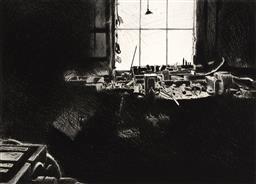 Sale 9252AD - Lot 5088 - HERTHA KLUGE POTT (1934 - ) - Industrial Work Shop VI 76 x 101.5 cm