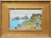 Sale 8427 - Lot 595 - Charles F. Robinson (1893 - 1968) - Lighthouse 29.5 x 45cm