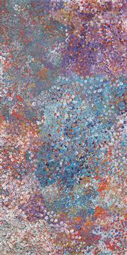Sale 8449A - Lot 531 - Polly Ngale (c1936 - ) - Bush Plum 195 x 98cm