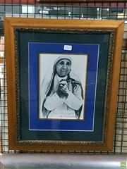 Sale 8582 - Lot 2132 - Mother Theresa Signed Print