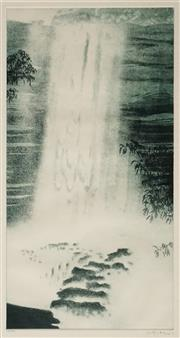 Sale 8631 - Lot 2004 - Peter Hickey (1943 - ) - Untitled (Waterfall), 76 50 x 26cm