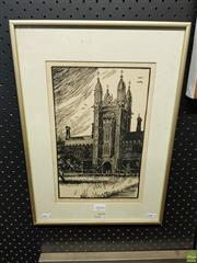 Sale 8613 - Lot 2094 - Raymond McGrath (1903 - 1977) - The Tower, Sydney University 1923 31 x 19cm