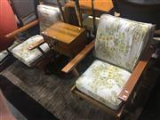 Sale 8684 - Lot 1087 - Pair of Vintage Australian Maple Framed Armchairs