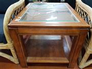 Sale 8724 - Lot 1066 - Modern Coffee Table with Glass Top