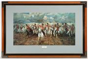 Sale 8873A - Lot 2 - After Lady Butler, Scotland Forever, chromolithograph