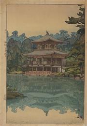 Sale 8896A - Lot 5021 - Hiroshi Yoshida (1876 - 1950) - Kinkaku 37.5 x 24.5 cm