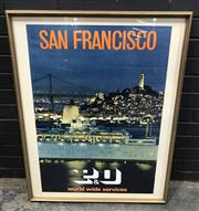Sale 9002 - Lot 1027 - 1971 P&O Framed Print San Francisco, (99 x 79cm)