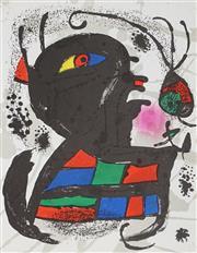 Sale 9009A - Lot 5010 - Joan Miro (1893 - 1983) - Lithographe III 32 x 25 cm (frame: 63 x 56 x 3 cm)