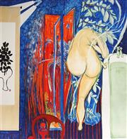 Sale 9034A - Lot 5061 - Brett Whiteley (1939 - 1992) - In the bath 53 x 48 cm (99 x 83 x 3 cm)