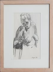 Sale 9053 - Lot 2087 - Jenny Sages - Portrait of a Woman (sketch), 1999 18.5 x 11.5 cm (frame: 29 x 22 x 2 cm)