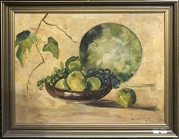 Sale 9106 - Lot 2013 - Kevin Boucher Still Life, 1976, oil on board, frame: 54 x 69 m, signed -