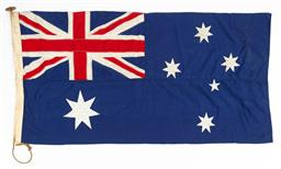 Sale 9130E - Lot 10 - A large Australian flag, 90cm x 182cm