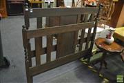 Sale 8398 - Lot 1029 - Barley Twist Bed Ends