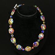 Sale 8402D - Lot 38 - Murano Glass Millefiori Necklace (Length - 43cm)