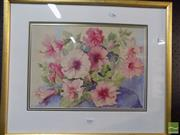 Sale 8513 - Lot 2085 - E. Dangerfield, Flowers, Watercolour, SLL