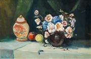 Sale 8537 - Lot 2042 - James Radford (1938 - ) - Bouquet and Oriental Urn 60 x 87.5cm