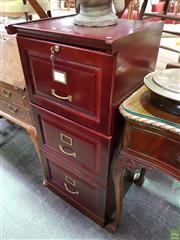 Sale 8570 - Lot 1078 - Timber 3 Drawer Filer