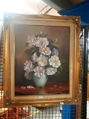 Sale 8695 - Lot 2094 - M. Lynch - Camelias, oil on board, SLR