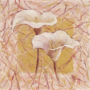 Sale 8750 - Lot 2016 - Margarette Looney (1948 - ) - Calla Lilies 41 x 41cm