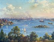 Sale 8752A - Lot 5004 - John Allcot (1888 - 1973) - Sydney Harbour from Robertsons Point 33 x 43cm
