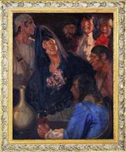 Sale 8339A - Lot 509 - Raymond Lindsay (1904 - 1960) - La Cantante 49 x 39cm