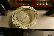 Sale 8356 - Lot 7 - Belleek Painted Lattice Basket