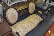 Sale 8390 - Lot 1141 - Medallion Back Settee