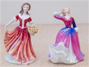 Sale 8430 - Lot 69 - Royal Doulton figure, Melissa. Height 17cm. Together with another similar (damaged) figure.