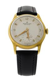 Sale 8439A - Lot 10 - A vintage Breitling wristwatch c1950s, manual wind, 33.2 mm, gold plated & stainless steel case, running