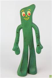 Sale 8608 - Lot 66 - Vintage Gumby Soft Toy H:31cm (very worn)