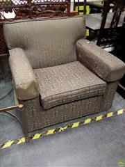 Sale 8620 - Lot 1053 - Green Fabric Armchair