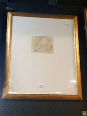 Sale 8640 - Lot 2067 - Norman Lindsay Pencil Work, Certificate Verso