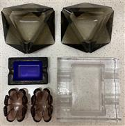 Sale 8510A - Lot 11 - A small quantity of glass ashtrays and pindishes
