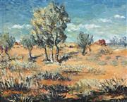 Sale 8750 - Lot 2043 - Edward (Ted) Herman (1922 - 2008) - Outback Landscape 44 x 54cm