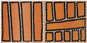 Sale 8743 - Lot 502 - Walala Tjapaltjarri (1960 - ) (4 Works) - Tingari, 2001 35.5 x 35.5cm (2); 40.5 x 30.5cm (2) (stretched and ready to hang)